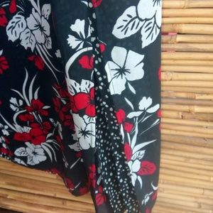 Studio Ease Dresses - Studio Ease Black White Red Aloha Dress 14 Plus